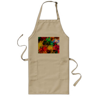 PATTERN WITH TILES IN RAINBOW COLORS LONG APRON