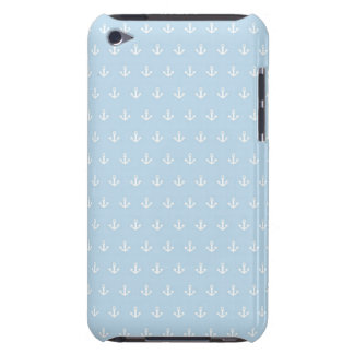 Pattern with white anchors on blue Case-Mate iPod touch case