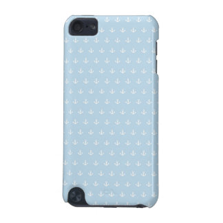 Pattern with white anchors on blue iPod touch (5th generation) cover