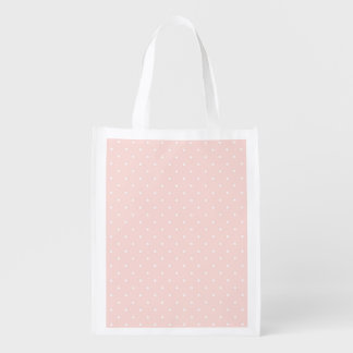 Pattern with white polka dots 2 grocery bags