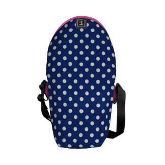Pattern with white polka dots courier bag