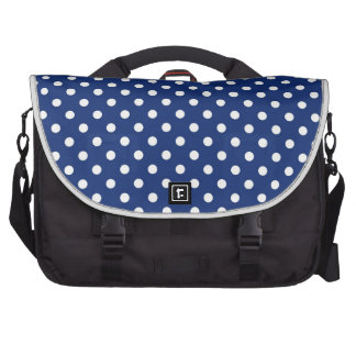Pattern with white polka dots computer bag