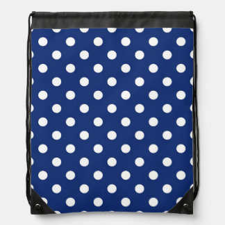 Pattern with white polka dots backpacks
