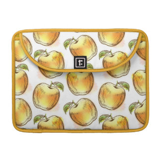 Pattern with yellow apple MacBook pro sleeve
