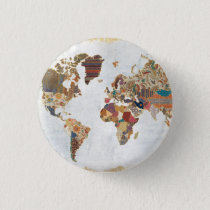 Pattern World Map Button