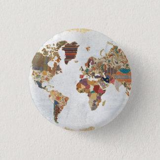 Pattern World Map Button