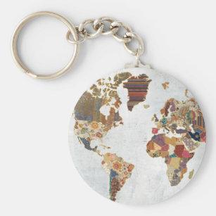 World map keychains zazzle pattern world map keychain gumiabroncs Gallery