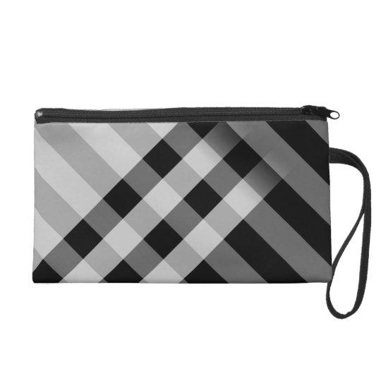 pattern wristlet purse