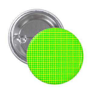 Pattern: Yellow Background with Green Circles Pinback Button