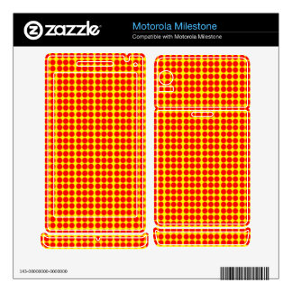 Pattern: Yellow Background with Red Circles Motorola Milestone Decals