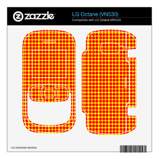 Pattern Yellow Background with Red Circles Skin For LG Octane