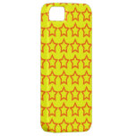 Pattern: Yellow Background with Red Stars iPhone 5 Case