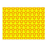 Pattern: Yellow Background with Red Stars Postcard