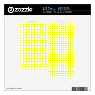 Pattern Yellow Background with White Circles Skins For LG Xenon