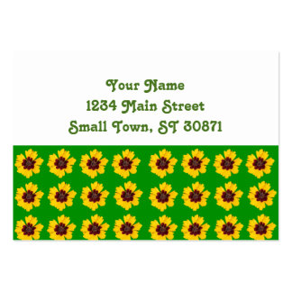 pattern yellow daisy on green background large business card