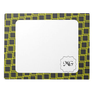 pattern yellow memo note pad