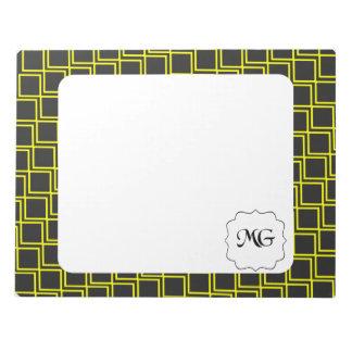 pattern yellow notepad