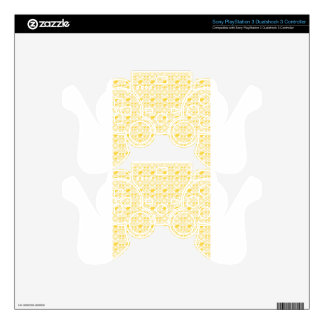 PATTERN YELLOW SKINS FOR PS3 CONTROLLERS