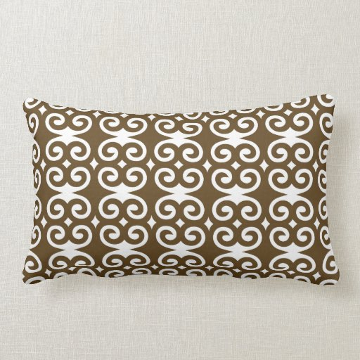 Patternaholic Humility Chocolate Swirl Pillow