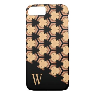 Professional Business Patterned and Monogrammed in Warm-Tones iPhone 7 Case