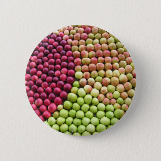 Patterned Apples Button