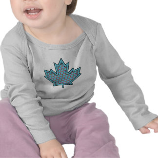 Patterned Applique Stitched Maple Leaf  17 T Shirts