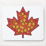 Patterned Applique Stitched Maple Leaf  20 Mouse Pads