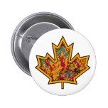 Patterned Applique Stitched Maple Leaf  7 Pin