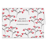 patterned berries greeting card