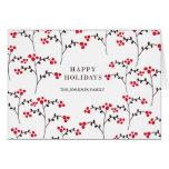 patterned berries greeting card