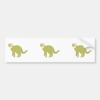 Patterned Cat Bumper Sticker