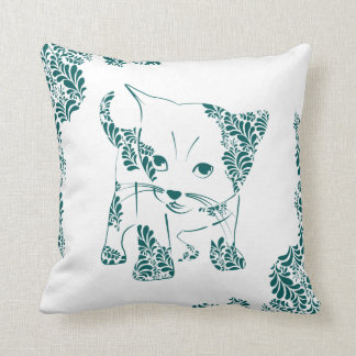 patterned cat pillow