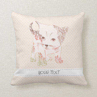 patterned cat throw pillows