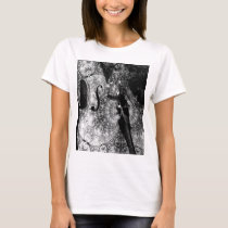 Patterned cello abstract in black and white T-Shirt
