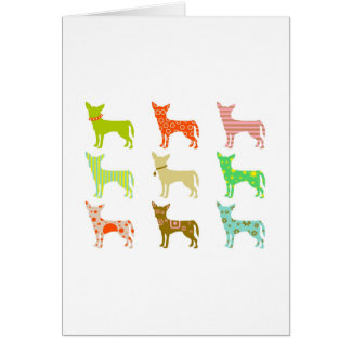 patterned-chihuahuas greeting cards
