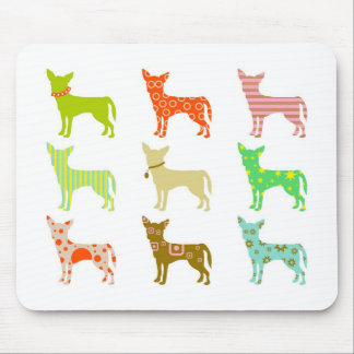 patterned-chihuahuas mouse pad