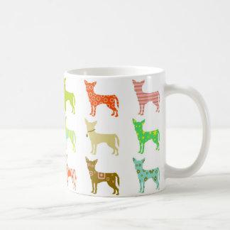 patterned-chihuahuas classic white coffee mug