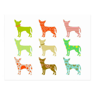 patterned-chihuahuas postcards