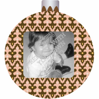 Patterned Christmas Ornament Ball Photo Frame
