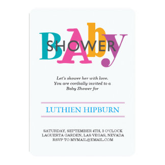 patterned & colors baby shower card