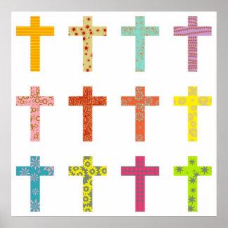 Patterned Cross Print