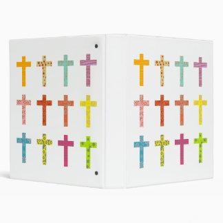 Patterned Crosses 3 Ring Binder
