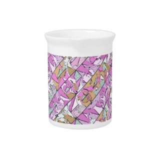 patterned diagonally pitcher