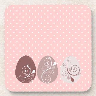 Patterned Eggs Beverage Coaster
