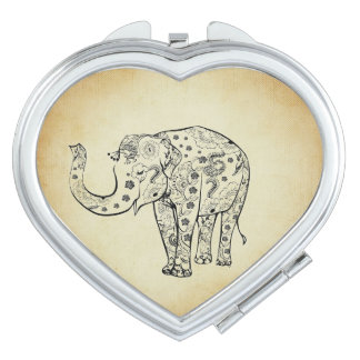 Patterned Elephant Makeup Mirror