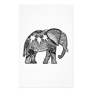 Patterned Elephant Stationery