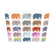 Patterned Elephant Wall Art