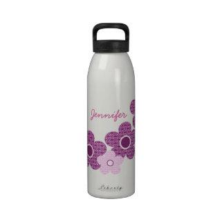 Patterned Flowers Liberty Bottle Purple Drinking Bottles