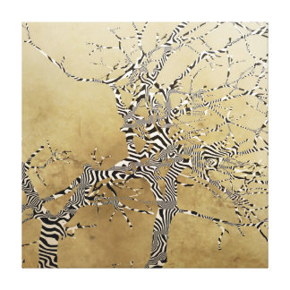 Patterned Forked Tree Canvas Print