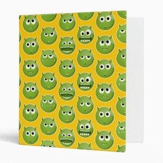 Patterned Green Monster Binder